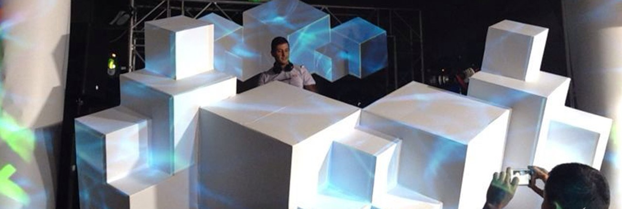 Artcraft Stage Design & mapping at Geneva stadium 2013