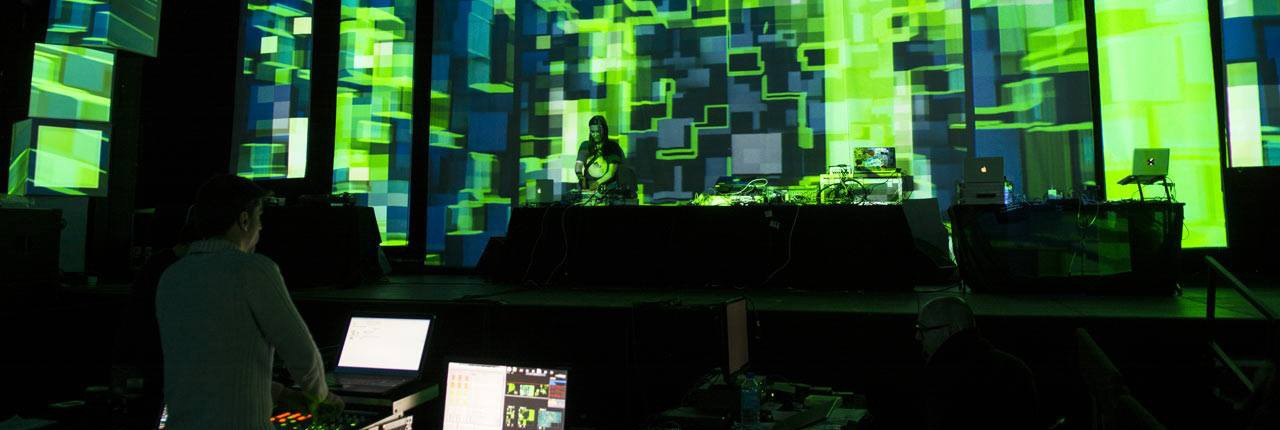 Artcraft Stage Design & mapping at Sophia Digital Arts 2015